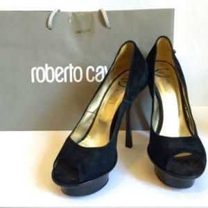 Just Cavalli Shoes Suede Pump Open Toe Heels 9